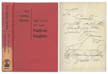 Perry Mason Mystery Signed by Author Erle Stanley Gardner -- The Case of the Duplicate Daughter First Edition
