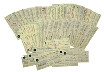 Lot of 45 Checks Signed by Charles Bubba Smith, Written Entirely in His Hand -- All Signed With His Name & Nickname, Charles Bubba Smith -- Very Good Condition