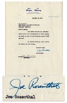Joe Rosenthal Document Signed From 1953 -- Also Signed by Comedian Ken Murray