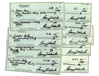 Lot of 10 Checks Signed by Conservative Icon Barry Goldwater