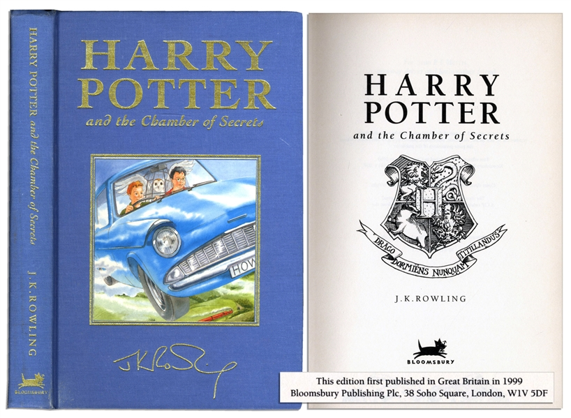 Rare Deluxe First U.K. Edition & First Printing of ''Harry Potter and the Chamber of Secrets''