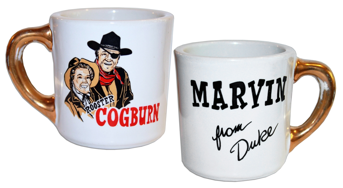 John Wayne Mug From ''Rooster Cogburn'' -- One of Wayne's Famous Mugs Gifted to the Cast and Crew on His Films