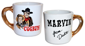 John Wayne Mug From Rooster Cogburn -- One of Waynes Famous Mugs Gifted to the Cast and Crew on His Films