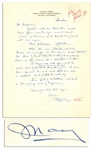 Mary Astor Autograph Letter Signed -- ...Im full of sedation. I had a king size can of hysterics...