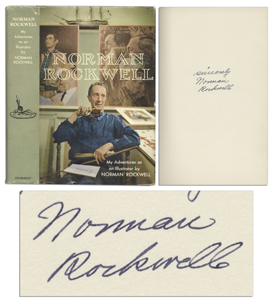 Norman Rockwell Signed Autobiography ''My Adventures as an Illustrator''
