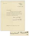Winston Churchill Letter Signed, Possibly Regarding A History of the English-Speaking Peoples