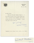 Winston Churchill Letter Signed as Prime Minister