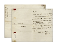 Robert Darwin Autograph Letter Signed Regarding Charles Darwins Financial Obligations -- ...I think Charles & his wifes interest is due...