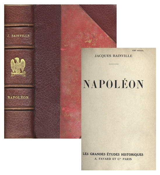 ''Napoleon'' by Jacques Bainville -- 1951 French-Language First Edition -- Compelling Overview by Founding Editor of the Royalist Daily ''Action Francaise''
