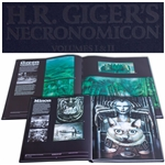 H.R. Giger Signed Limited Edition of Necronomicon Volumes I & II -- Near Fine Condition