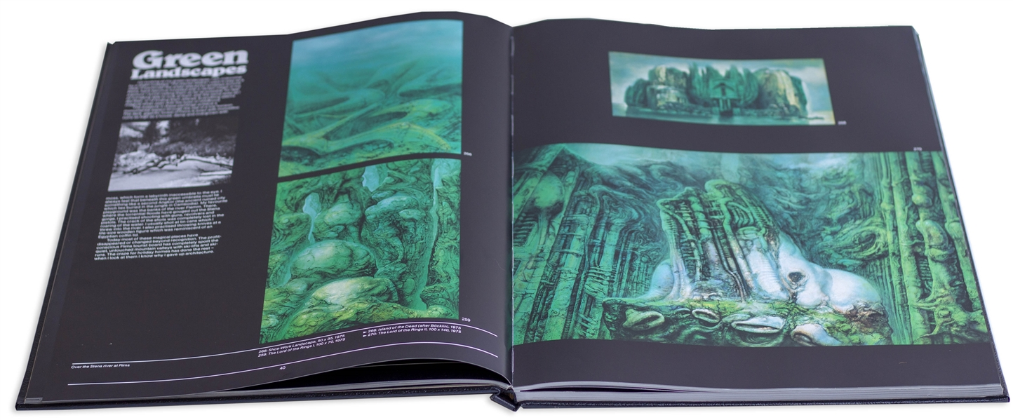 H.R. Giger Signed Limited Edition of ''Necronomicon Volumes I & II'' -- Near Fine Condition