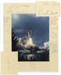 Scarce Rogers Commission Signed Photo -- Signed by 12 Members Who Investigated the Space Shuttle Challenger Disaster, Including Richard Feynman, Sally Ride, Don Kutyna, William Rogers & Neil Armstrong