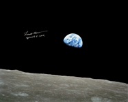 Frank Borman Signed 20 x 16 of the Earth, as Seen From the Moon