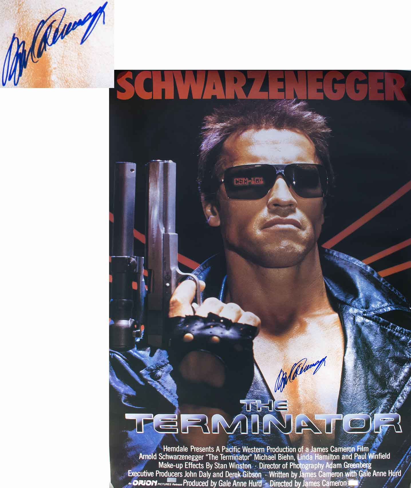 Lot Detail - Arnold Schwarzenegger Signed ''The Terminator'' Movie