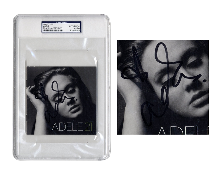 Adele Signed CD Cover for ''21'' -- With PSA/DNA Authentication