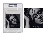 Adele Signed CD Cover for 21 -- With PSA/DNA Authentication