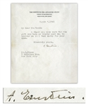 Albert Einstein WWII-Dated Typed Letter Signed