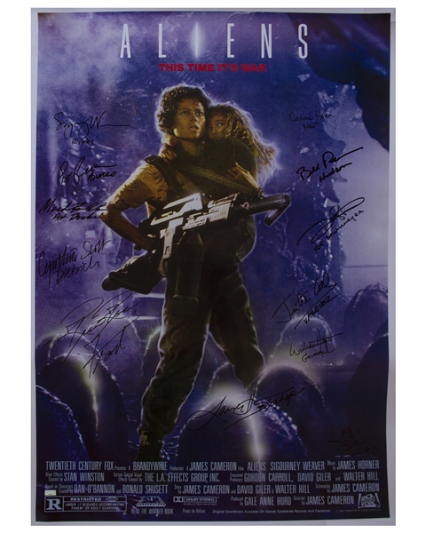 ''Aliens'' Cast Signed 27'' x 40'' Movie Poster