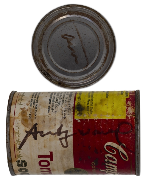 Andy Warhol Twice-Signed Iconic Campbell's Soup Can