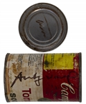 Andy Warhol Twice-Signed Iconic Campbells Soup Can