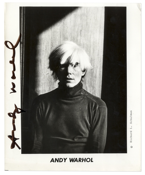 Andy Warhol Signed 8'' x 10'' Photo