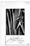 Ansel Adams Signed Poster of His Photograph, Madrone Bark, Santa Cruz Mountains, California