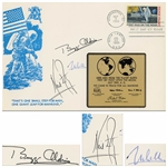 Apollo 11 First Day Cover Boldly Signed by Neil Armstrong, Buzz Aldrin and Michael Collins -- Large Cover Measures 9 x 6