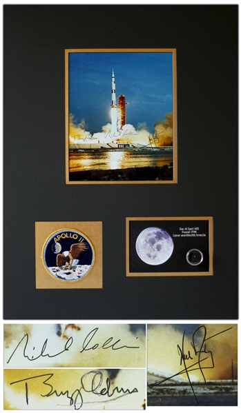 Apollo 11 Crew-Signed 8'' x 10'' Photo -- Signed by Neil Armstrong, Michael Collins & Buzz Aldrin -- With Steve Zarelli COA