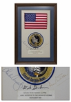 United States Flag Flown to the Moon on the Apollo 12 Mission -- With Certificate Signed by the Crew: Charles Conrad, Dick Gordon & Alan Bean