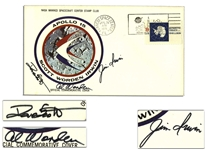 Apollo 15 Crew-Signed NASA Insurance Cover -- With COA From Al Worden & Additionally Signed Twice by Worden on Verso, from my Personal Collection