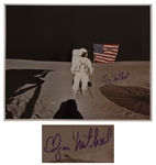 Apollo 14 Astronaut Edgar Mitchell Signed 20 x 16 Photo