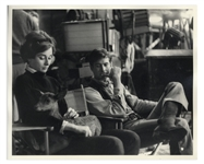 Audrey Hepburn Personally Owned 10 x 8 Production Still From Green Mansions -- Hepburn Is Shown With Ip the Deer & Co-Star Anthony Perkins