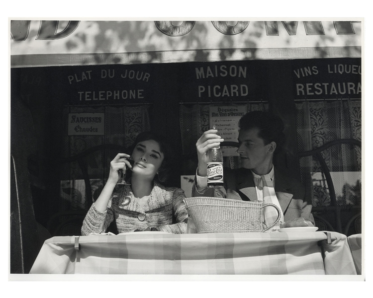 Audrey Hepburn's Personally Owned Photo From ''Love in the Afternoon'' -- Measures 15.5'' x 11.5''