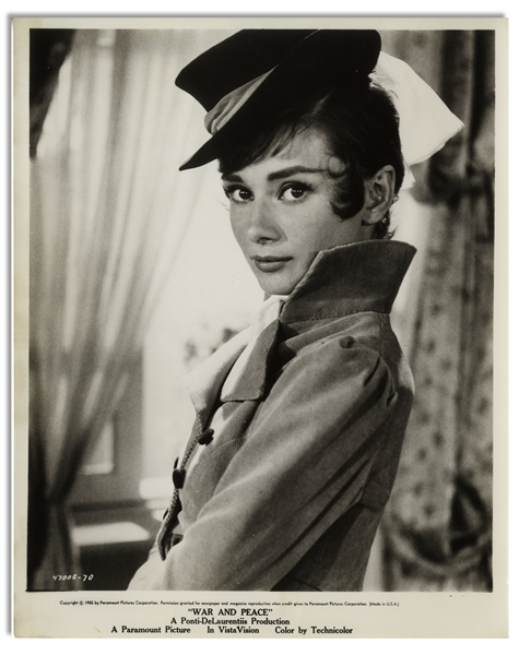 Audrey Hepburn Personally Owned 8'' x 10'' Photo From ''War and Peace''