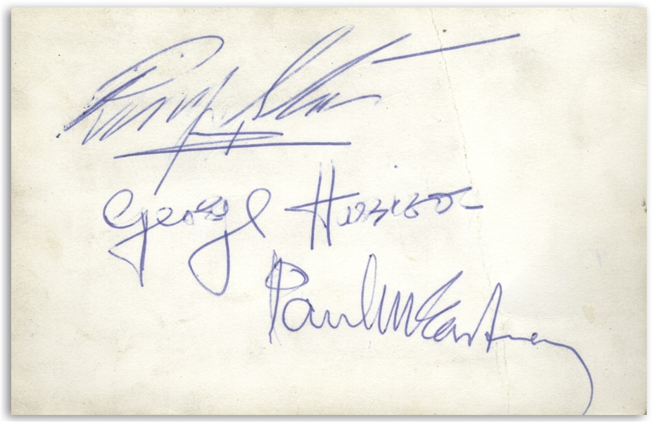 The Beatles Signatures by All Four, From the Early/Mid-1960s -- With TRACKS COAs