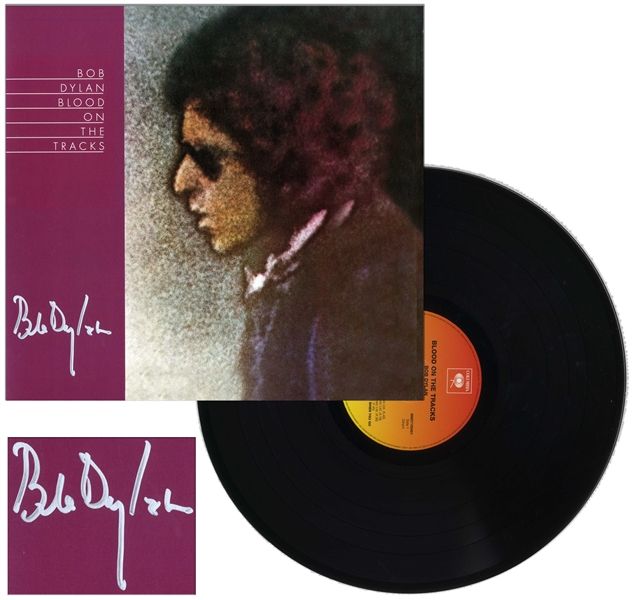 Bob Dylan Signed Album ''Blood on the Tracks'' -- With Roger Epperson COA