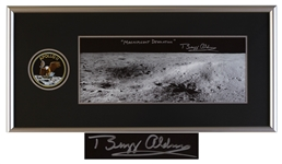 Spectacular Buzz Aldrin Signed 20 x 8 Photo, Titled by Aldrin Magnificent Desolation -- With Novaspace COA