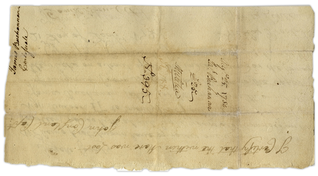 Daniel Boone Revolutionary War Document Signed Regarding a Horse Killed During the Battle of Blue Licks -- One of the Only Documents Signed by Boone Regarding This Battle
