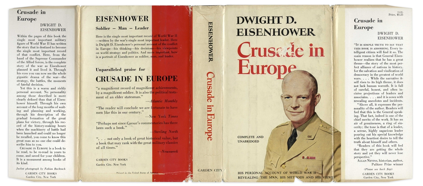Dwight D. Eisenhower Signed Copy of ''Crusade in Europe''