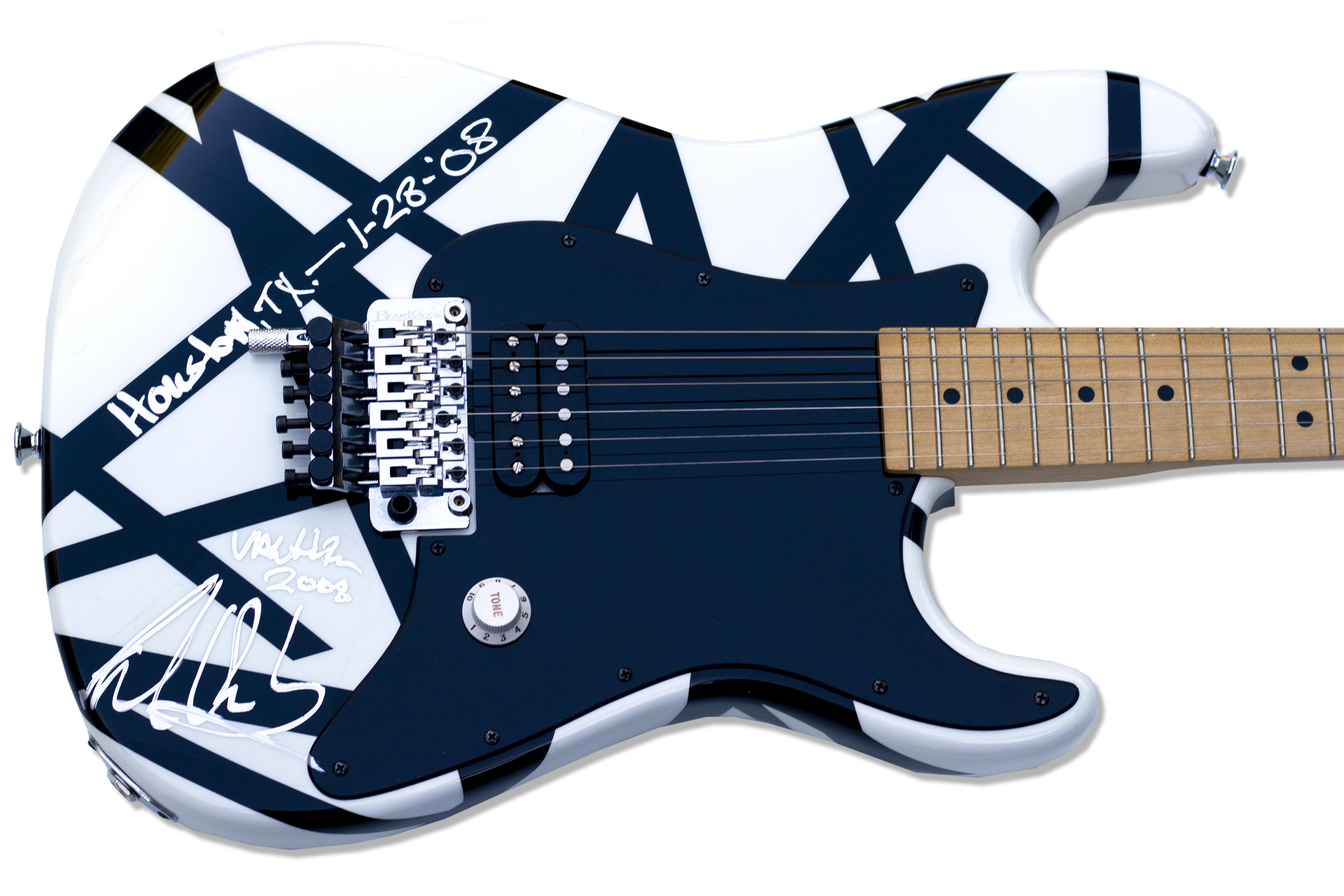 Lot Detail Eddie Van Halen Personally Designed Stage Played Signed Guitar
