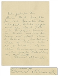 "Very Rare Edvard Munch Autograph Letter Signed Referencing His ""Moonlight"" Etching"