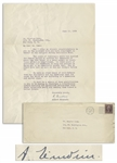 Albert Einstein Letter Signed During WWII -- The power of resistance which has enabled the Jewish people to survive...our readiness to help one another is being put to an especially severe test