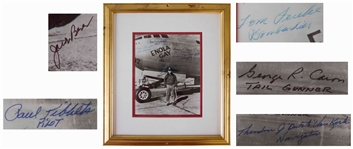 Enola Gay Photo Signed by Five of the Crew From the Hiroshima Mission