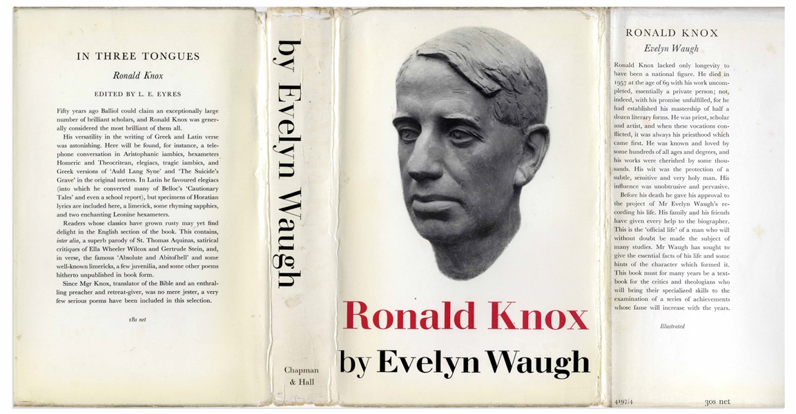 Evelyn Waugh Signed First Edition of His Heralded Biography ''The Life of Ronald Knox''