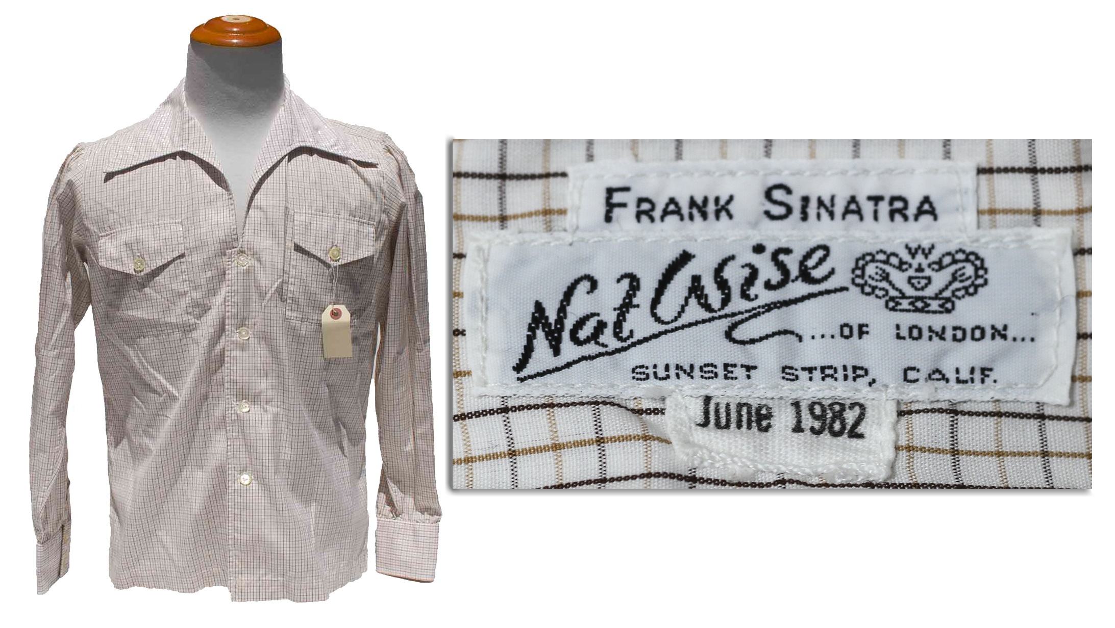 Lot Detail Frank Sinatras Own Custom Shirt With His Label