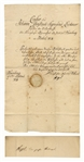 Georg Wilhelm Friedrich Hegel Document Signed -- The Iconic Philosopher Issues a Certificate of Learning to His Student