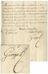 George II Letter Signed as King, Sending Congratulations to the King of the Two Sicilies on the Birth of the Prince