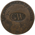 George Washington Long Live the President Inaugural Coat Button From the Very First Presidential Inauguration in 1789