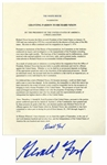 Gerald Ford Signed Pardon of Richard Nixon