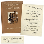 Harry Houdini Twice-Signed Copy of His Book The Unmasking of Robert-Houdin -- ...may the reading of this book conjure up pleasant thoughts...
